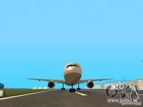 Boeing 767-300 Lufthansa pour GTA San Andreas vue intérieure