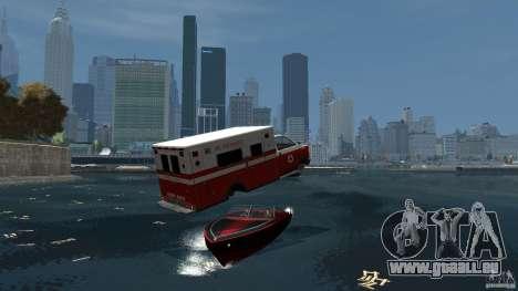 Ambulance boat pour GTA 4 Vue arrière