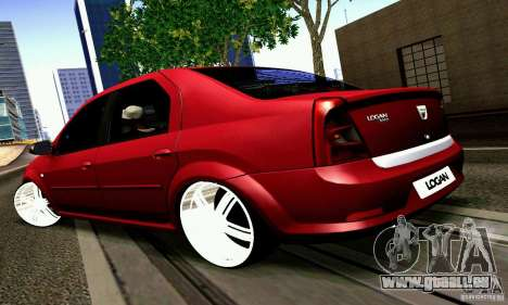 Dacia Logan 2008 pour GTA San Andreas laissé vue