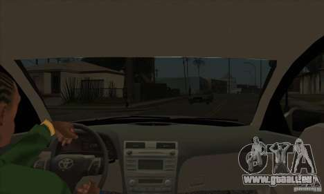 Toyota Camry 2010 SE Police RUS pour GTA San Andreas vue intérieure