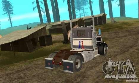 Peterbilt 289 pour GTA San Andreas sur la vue arrière gauche