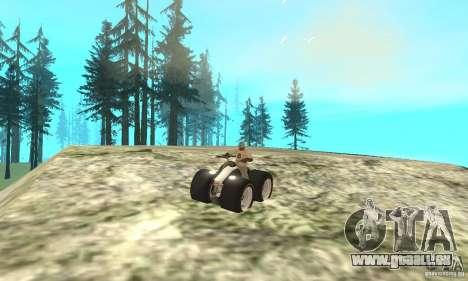QUAD BIKE Custom Version 1 pour GTA San Andreas vue arrière