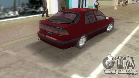 SAAB 9000 Anniversary v1.0 pour GTA Vice City sur la vue arrière gauche