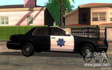 Ford Crown Victoria pour GTA San Andreas vue de droite