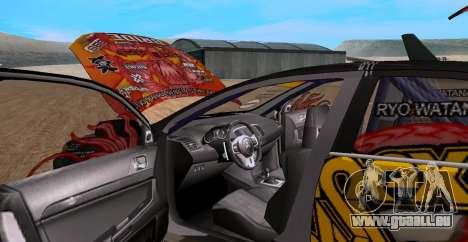 Mitsubishi Lancer Evolution RYO Vatanabe pour GTA San Andreas vue de droite