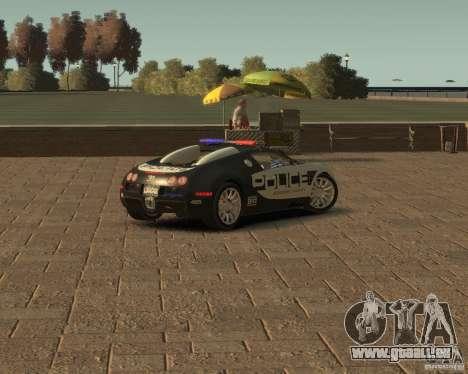 Bugatti Veyron Police [EPM] für GTA 4 hinten links Ansicht
