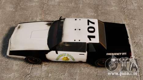 Police à colorier pour un Sabre rouillé pour GTA 4 est un droit