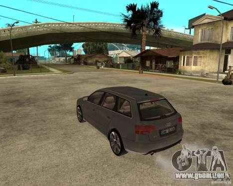 Audi A4 2005 Avant 3.2 quattro pour GTA San Andreas laissé vue