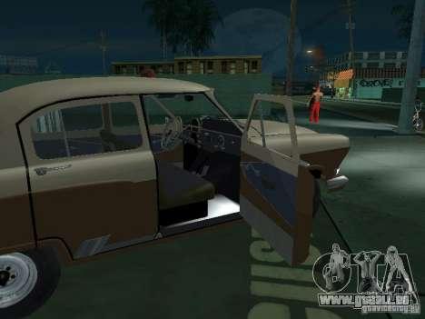 GAZ M21T Taxi pour GTA San Andreas vue de dessous