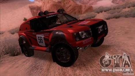 Range Rover Bowler Nemesis für GTA San Andreas Rückansicht