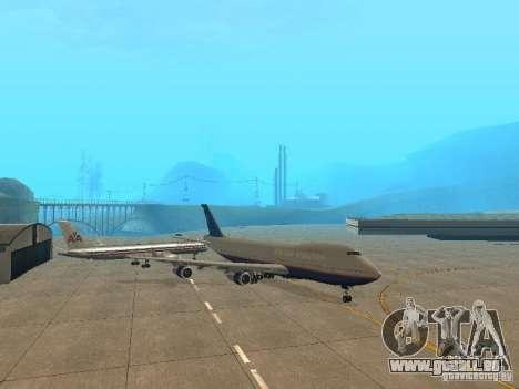 Boeing 747-100 United Airlines für GTA San Andreas linke Ansicht