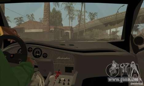 Lamborghini Diablo GT-R pour GTA San Andreas vue intérieure