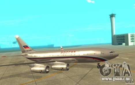 Der IL-96-300-STC-Russland für GTA San Andreas zurück linke Ansicht