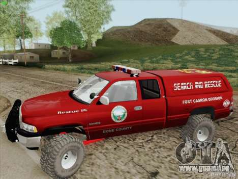 Dodge Ram 3500 Search & Rescue pour GTA San Andreas vue de dessous