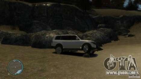 Mitsubishi Pajero Wagon pour GTA 4 Vue arrière