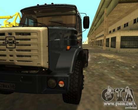 ZIL 5417 pour GTA San Andreas vue arrière