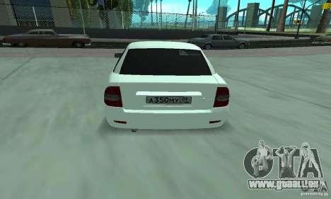 Lada Priora Italia pour GTA San Andreas vue de droite