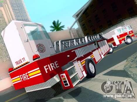 Seagrave Tiller Truck für GTA San Andreas linke Ansicht