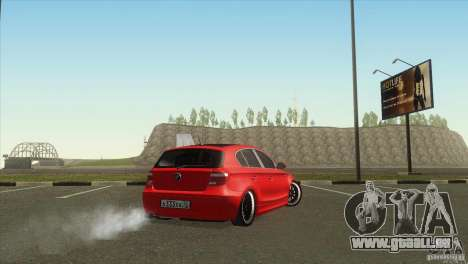 BMW 120i für GTA San Andreas zurück linke Ansicht