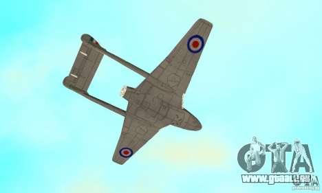 De-Havilland-Vampire ver 2.0 pour GTA San Andreas vue de côté