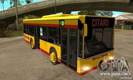 Mercedes-Benz Citaro K pour GTA San Andreas vue arrière