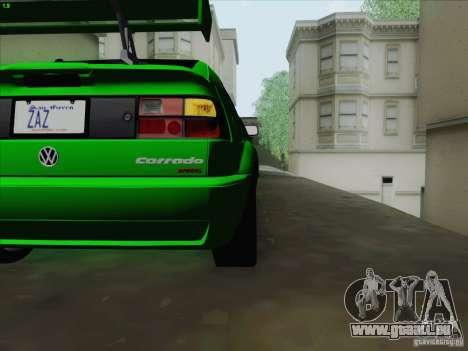 Volkswagen Corrado 1995 pour GTA San Andreas vue intérieure