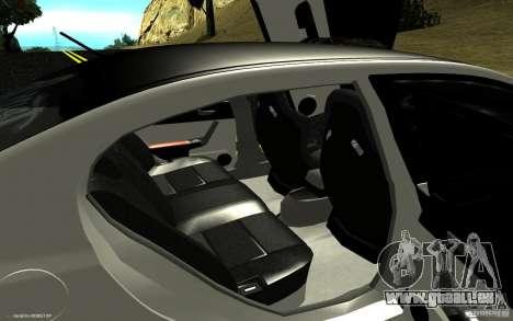 Honda Civic Type R pour GTA San Andreas vue intérieure