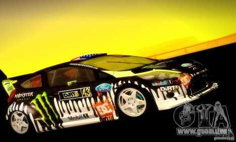 Ford Fiesta Gymkhana 4 für GTA San Andreas zurück linke Ansicht