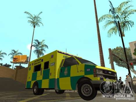 London Ambulance für GTA San Andreas linke Ansicht
