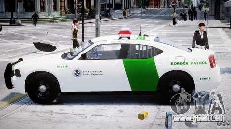 Dodge Charger US Border Patrol CHGR-V2.1M [ELS] pour GTA 4 est une vue de l'intérieur