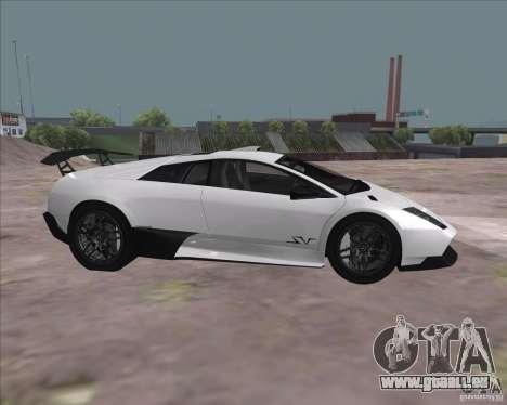 Lamborghini Murcielago LP670-4 SV pour GTA San Andreas vue arrière
