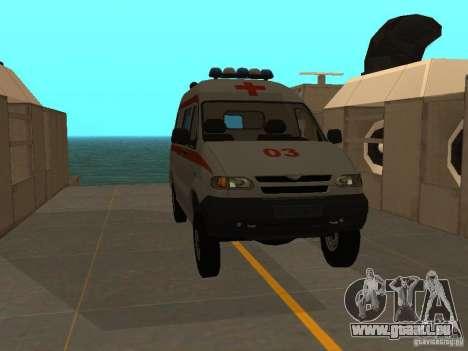 UAZ Simba SC Krankenwagen für GTA San Andreas rechten Ansicht