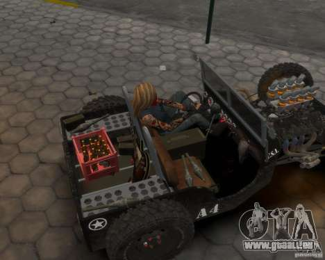 Willys Hot-Rod pour GTA 4 Vue arrière de la gauche