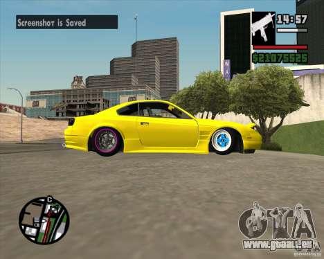 Nissan S330SX Japan SHK style pour GTA San Andreas vue intérieure