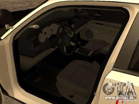 Dodge Charger RT Police pour GTA San Andreas vue arrière
