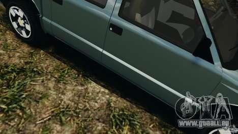 Chevrolet S-10 Colinas Cabine Dupla pour GTA 4 est une vue de dessous