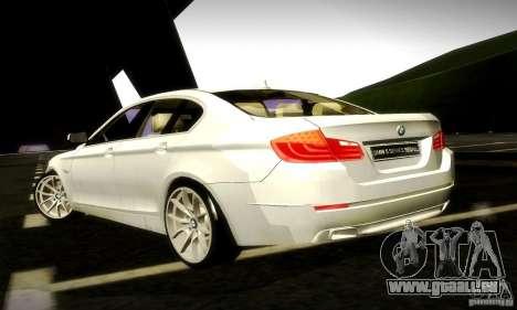 BMW 550i F10 pour GTA San Andreas vue intérieure