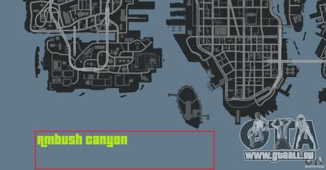 Ambush Canyon pour GTA 4