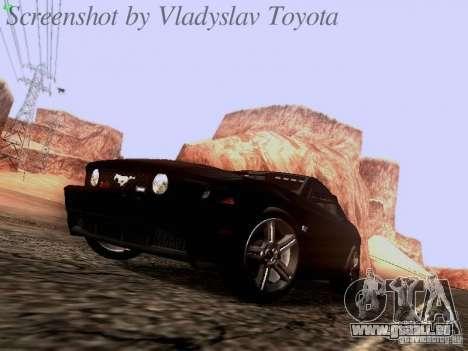 Ford Mustang GT 2011 Unmarked pour GTA San Andreas laissé vue