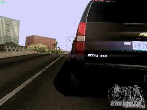 Chevrolet Tahoe 2009 Unmarked pour GTA San Andreas vue intérieure