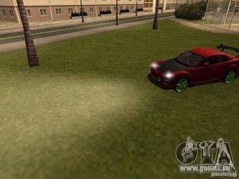 Mazda RX-8 R3 Tuned 2011 für GTA San Andreas obere Ansicht