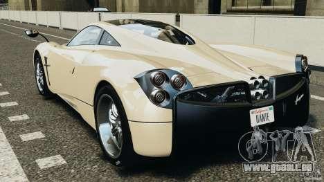 Pagani Huayra 2011 v1.0 [RIV] pour GTA 4 Vue arrière de la gauche