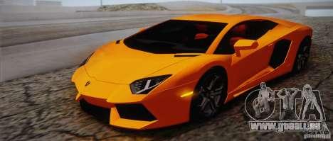 Lamborghini Aventador LP700-4 Final für GTA San Andreas Innen