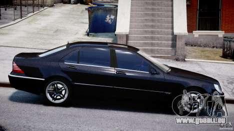 Mercedes-Benz W220 für GTA 4 Innenansicht