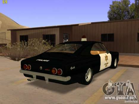Chevrolet Opala Police für GTA San Andreas linke Ansicht