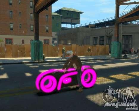 Motorrad des Throns (neonpink) für GTA 4 linke Ansicht
