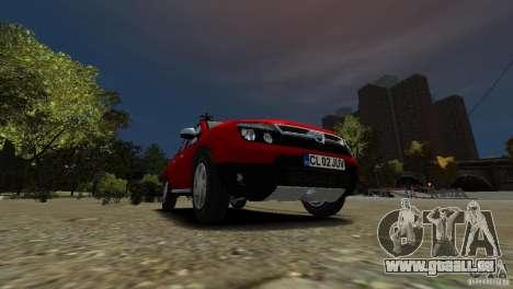 Dacia Duster SUV 4x4 2010 für GTA 4 Innenansicht