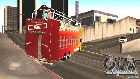 Scania 93H 6x2 Trio Eletrico pour GTA San Andreas vue de droite