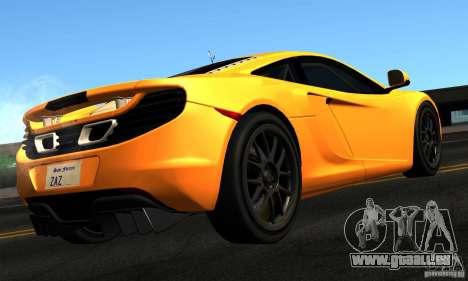 McLaren MP4-12C TT Black Revel pour GTA San Andreas laissé vue