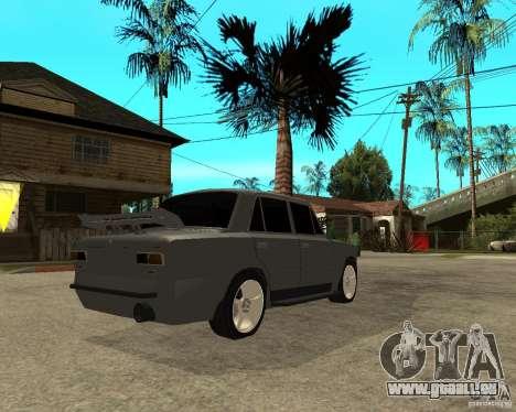 VAZ 2101 schwer tuning für GTA San Andreas zurück linke Ansicht